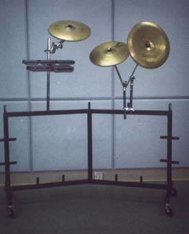 Cymbal and Block Assembly